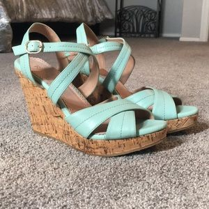 Mint Green Wedge Heels